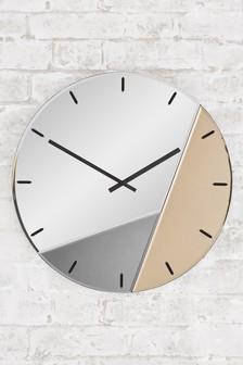 Mixed Metallic Wall Clock