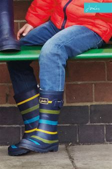 Joules Multi Stripe Printed Welly