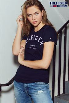 Tommy Hilfiger Navy Basic Graphic T-Shirt