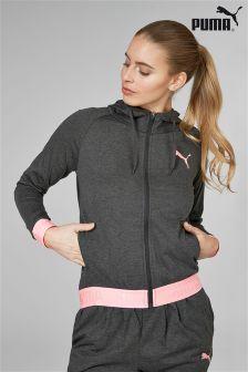 Puma® Grey/Pink Banded Hoody