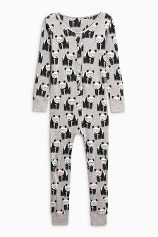 Panda Print Jersey All-In-One (3-16yrs)