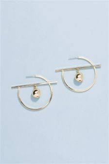 Inner Sphere Hoop Earrings