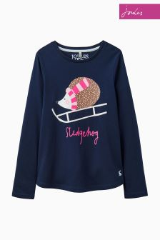 Joules Navy Hedgehog Screenprint T-Shirt