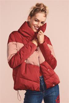 Short Duvet Colourblock Jacket
