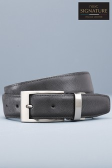 Signature Reversible Leather Textured Belt