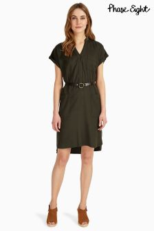 Phase Eight Khaki Yasmina Belted Dress