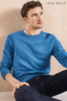 Jack Wills Blue Hatton Crew Sweatshirt