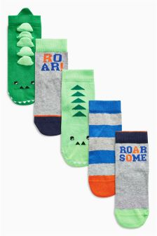 3D Dino Socks Five Pack (Younger Boys)