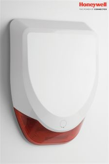 Honeywell White Wireless Battery Siren
