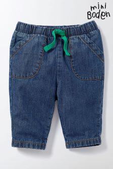 Boden Blue Pull-On Trouser