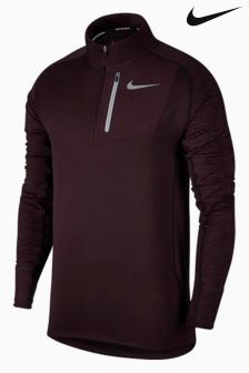 Nike Run Wine Therma Sphere Half Zip Top