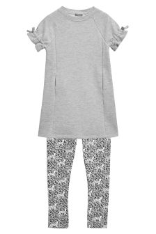 Tie Sleeve Top And Leggings Set (3-16yrs)