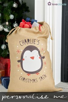 Personalised Christmas Penguin Sack By Loveabode