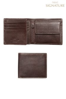Signature Italian Leather Extra Capacity Bifold Wallet