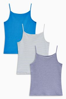 Rib Vest Three Pack (3-16yrs)