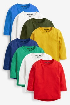 Long Sleeve Essential T-Shirts Eight Pack (3mths-6yrs)