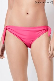 Warehouse Pink Tie Side Bikini Bottom