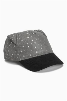 Star Print Cap (Younger Girls)