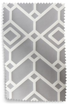 Lattice Geo Jacquard Eyelet Curtain Fabric Sample