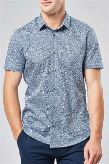 Short Sleeve Ditsy Printed Shirt
