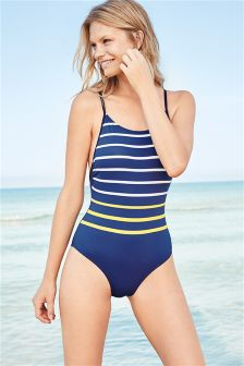 Stripe Strappy Swimsuit