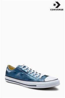 Converse Blue Metallic Canvas Ox