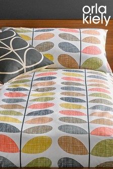 Set Of 2 Orla Kiely Scribble Stem Housewife Pillowcases