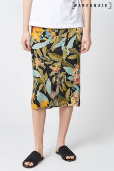 Warehouse Black Tropical Garden Skirt
