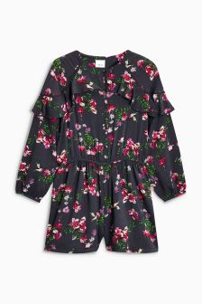 Long Sleeve Ruffle Playsuit (3-16yrs)