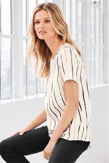 Short Sleeve Satin T-Shirt