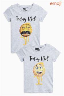 Flippy Sequin Emoji T-Shirt (3-16yrs)
