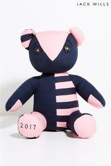 Jack Wills Pink/Navy Teddy Bear