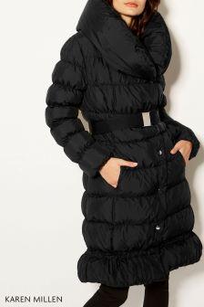 Karen Millen Black Down Jacket