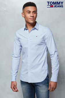 Tommy Jeans Blue Striped Basic Shirt