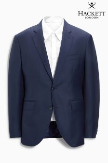 Hackett Blue Plain Wool Twill Jacket