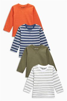 Long Sleeve T-Shirts Four Pack (3mths-6yrs)