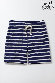 Boden Blue Towelling Shorts