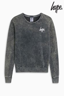 Hype Black Acid Wash Crew
