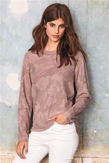 Rose Mesh Long Sleeve Top