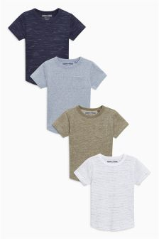 Short Sleeve T-Shirts Four Pack (3mths-6yrs)