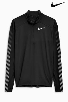 Nike Run Black Flash Half Zip Top