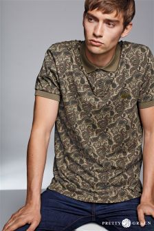 Pretty Green Ryder Paisley Polo