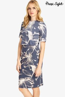 Phase Eight Blue Etched Daisy Dress