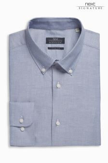 Signature Egyptian Cotton Button Down Collar Regular Fit Shirt