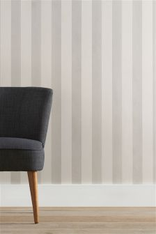 Paste The Wall Glitter Stripe Wallpaper