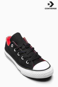 Converse Black Chuck Taylor All Star Double Tongue Ox