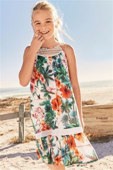 Tropical Maxi Dress (3-16yrs)