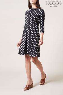 Hobbs Navy Ariela Dress