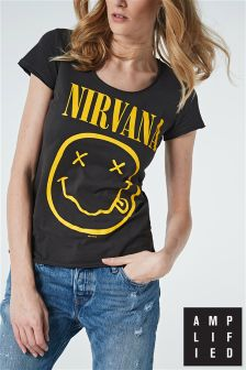 Amplified Black Nirvana Band T-Shirt