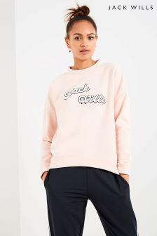 Jack Wills Pink Graphic Crew